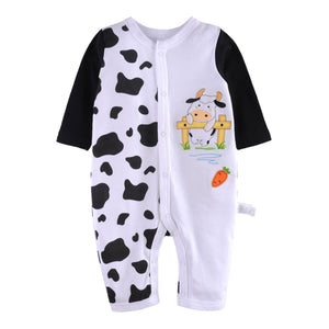 First Movements Mr. Dairy Graphic Romper - BabyLand.my