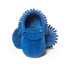 Load image into Gallery viewer, Baby Fringe Pre-Walker Moccasin (Blue) - BabyLand.my