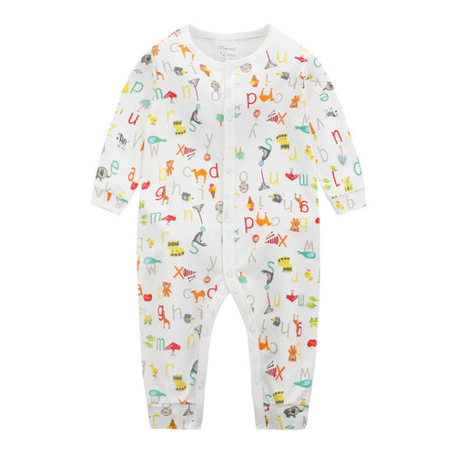 MomsCare ABC and Animals Graphic Romper - BabyLand.my