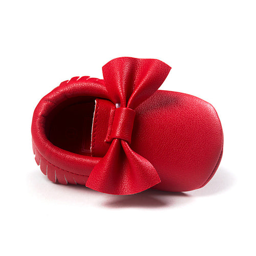 Big Bowties Pre-Walker Moccasin (Red) - BabyLand.my
