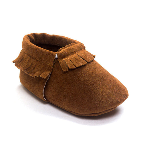 Baby Fringe Pre-Walker Moccasin (Brown) - BabyLand.my