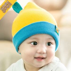 GZMM Yellow Fruit & Leaflet Knit Baby Beanie Hat - BabyLand.my