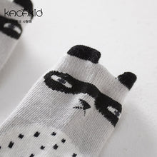 Load image into Gallery viewer, Kacakid Innocence Grey Raccoon Short Socks - BabyLand.my