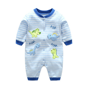 First Movements Roaring Dinosaurs Striped Romper - BabyLand.my