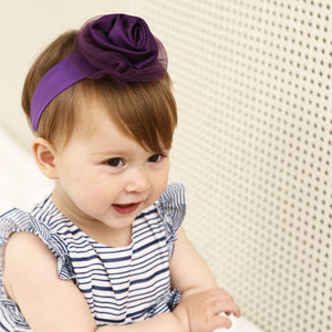 Mystery Purple Fabric Rose Headband - BabyLand.my