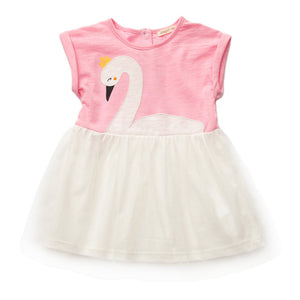 SIMYKE Shyly Swan Dress (Pink) - BabyLand.my