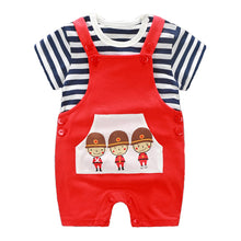 Load image into Gallery viewer, Three Soldiers Strappy Romper Set - BabyLand.my