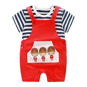 Three Soldiers Strappy Romper Set - BabyLand.my