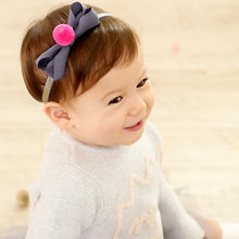 Load image into Gallery viewer, Angel Neitiri Color Hairball Bow-Knot Headband - BabyLand.my