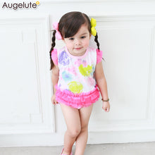 Load image into Gallery viewer, Augelute Bodysuit Dress (Pink Rainbow Colors) - BabyLand.my