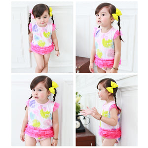 Augelute Bodysuit Dress (Pink Rainbow Colors) - BabyLand.my