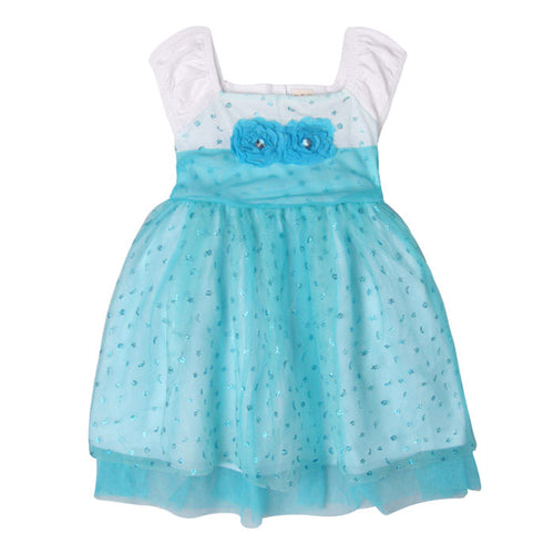 Augelute Adorable Princess Dress (Blue) - BabyLand.my