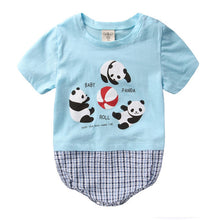 Load image into Gallery viewer, Augelute Graphic & Plaid Bodysuit (Babies Panda) - BabyLand.my