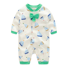 Load image into Gallery viewer, Bow-Knot Romper Series (Sailboats Clip-arts) - BabyLand.my