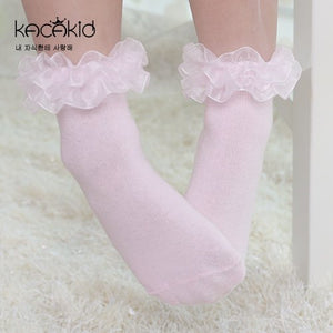 Kacakid Girly Lace Tube Socks (Short) - BabyLand.my