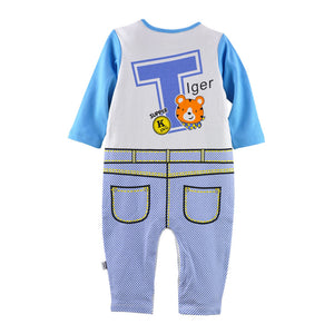 First Movements Tiger King Braces Romper - BabyLand.my