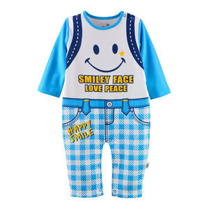 First Movements Smiley Face Love Peace Romper - BabyLand.my