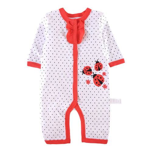 First Movements Three Ladybirds Polka Dots Romper - BabyLand.my