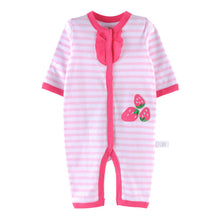 Load image into Gallery viewer, First Movements Sweet Strawberries Striped Romper - BabyLand.my
