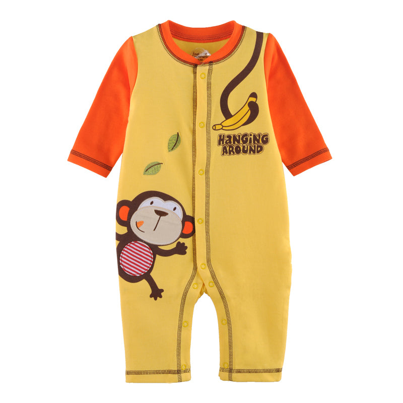 First Movements Monkey VS Banana Romper - BabyLand.my