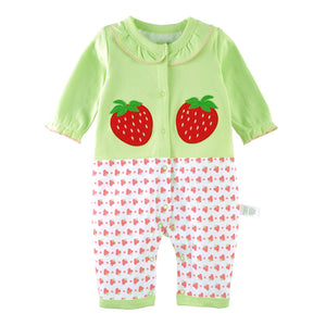 First Movements Fresh & Juicy Strawberries Romper - BabyLand.my