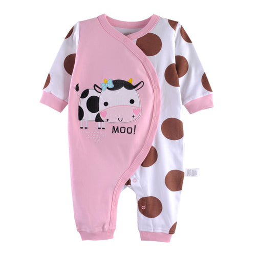 First Movements 'Moo!' Cow Pink Romper - BabyLand.my