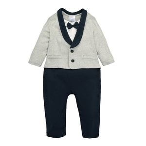 MomsCare Little Gentleman's Suit Romper - BabyLand.my