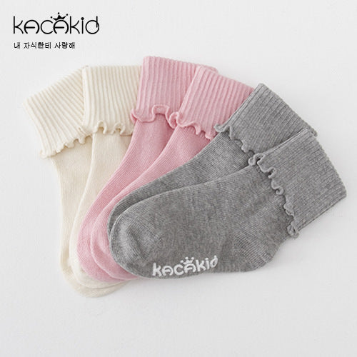 Kacakid Baby Lace Fungus Socks (3 in 1 set) - BabyLand.my