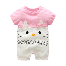 Load image into Gallery viewer, First Movements Cutie Cat Pink Romper - BabyLand.my