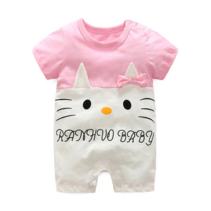 First Movements Cutie Cat Pink Romper - BabyLand.my