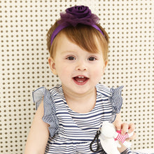 Load image into Gallery viewer, Mystery Purple Fabric Rose Headband - BabyLand.my