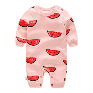 Sweet Pink Watermelon Slices Romper - BabyLand.my