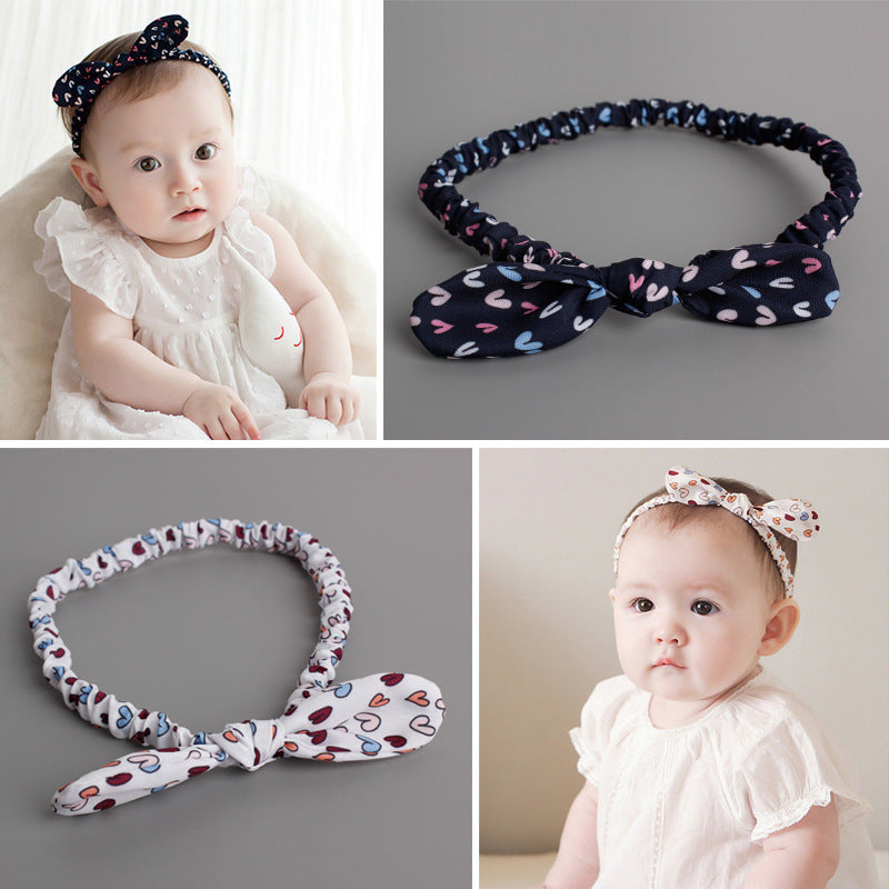 Colorful Hearty Bow-Knot Headband (2 colours) - BabyLand.my