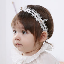 Load image into Gallery viewer, Angel Neitiri Lace Pearl Headband - BabyLand.my