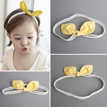 Load image into Gallery viewer, Yellow Polka Dots Bow-Knot Headband - BabyLand.my