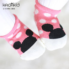 Load image into Gallery viewer, Kacakid Polka Dots Mickey Boat Socks (2 colours) - BabyLand.my