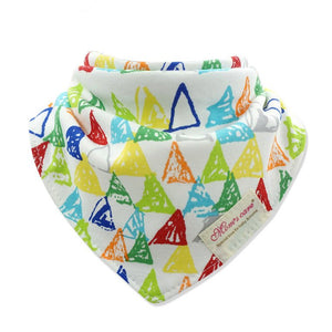 MomsCare Graphic Teething Bibs (Colourful Triangles) - BabyLand.my