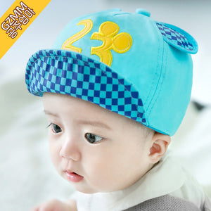 GZMM Blue 23 Flanging Baby Cap - BabyLand.my