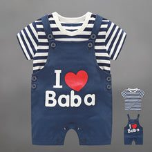 Load image into Gallery viewer, I Love Baba Strappy Romper Set - BabyLand.my