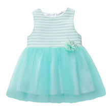 Load image into Gallery viewer, SIMYKE Princess Strappy Dress (Mint Striped) - BabyLand.my
