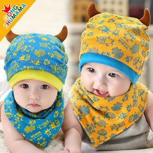 GZMM Monsters Beanie Hat + Bib Set - BabyLand.my
