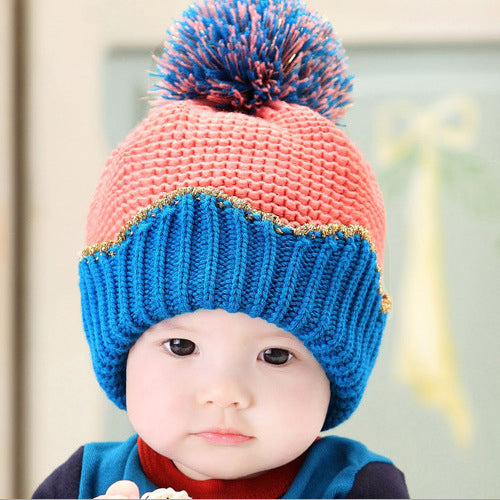 GZMM Adorable Crown Crochet Baby Beanie Hat - BabyLand.my