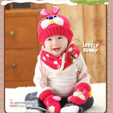 Load image into Gallery viewer, GZMM 3D Bunny Crochet Baby Beanie Hat Set - BabyLand.my