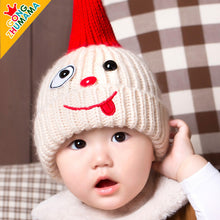 Load image into Gallery viewer, GZMM Naughty Face Crochet Baby Beanie Hat - BabyLand.my