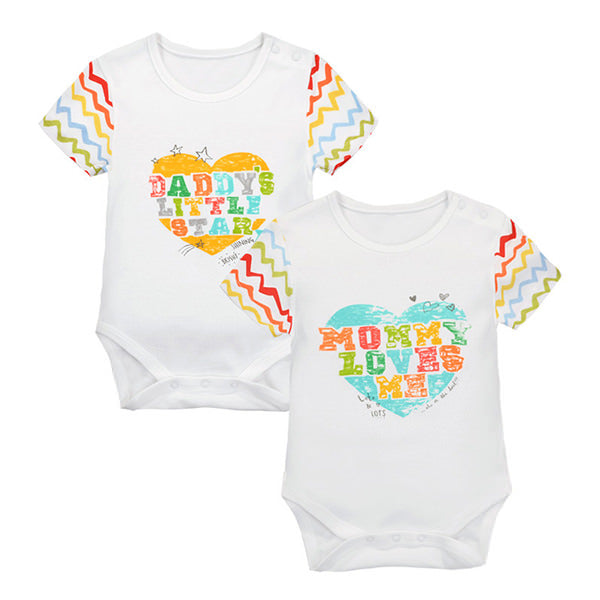 MomsCare Daddy's & Mommy's Colorful Love Bodysuit - BabyLand.my