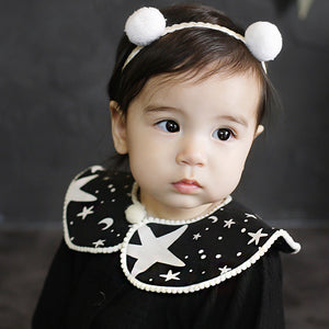 Angel Neitiri Soft Furry Balls Lace Headband - BabyLand.my