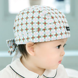 GZMM Tie-Back Cotton Cap (Red-Green) - BabyLand.my