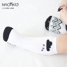 Load image into Gallery viewer, Kacakid Cloudy Rainy Day Tube Socks (Long) - BabyLand.my
