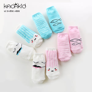 Kacakid Fishes & Sea Waves 4-In-1 Socks (2 colors) - BabyLand.my