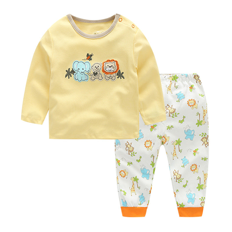 First Movements 3 Happy Friends Pant Set - BabyLand.my